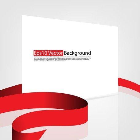 Fita vermelha e papelão Vector 2 Clipart Picture.