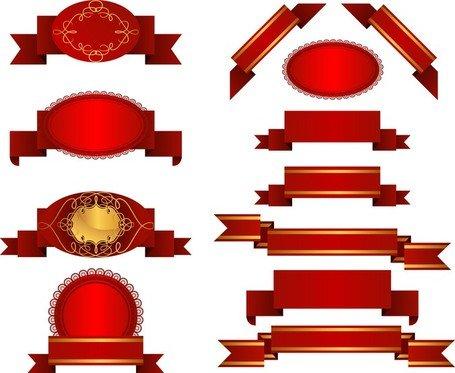 Várias faixas de fita vermelha Clipart Picture Free Download.