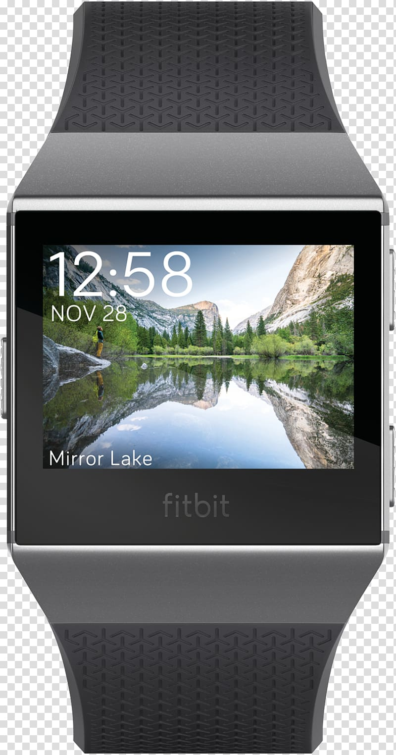 Fitbit Ionic Activity tracker Blue Color, Fitbit transparent.