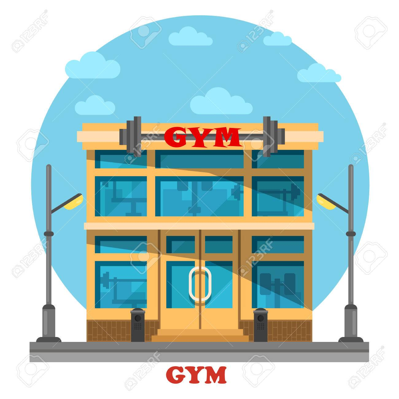 3075 Gym free clipart.