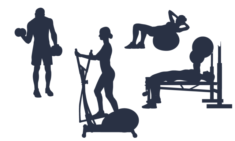 Silhouette Fitness Centre Clip art Scalable Vector Graphics.
