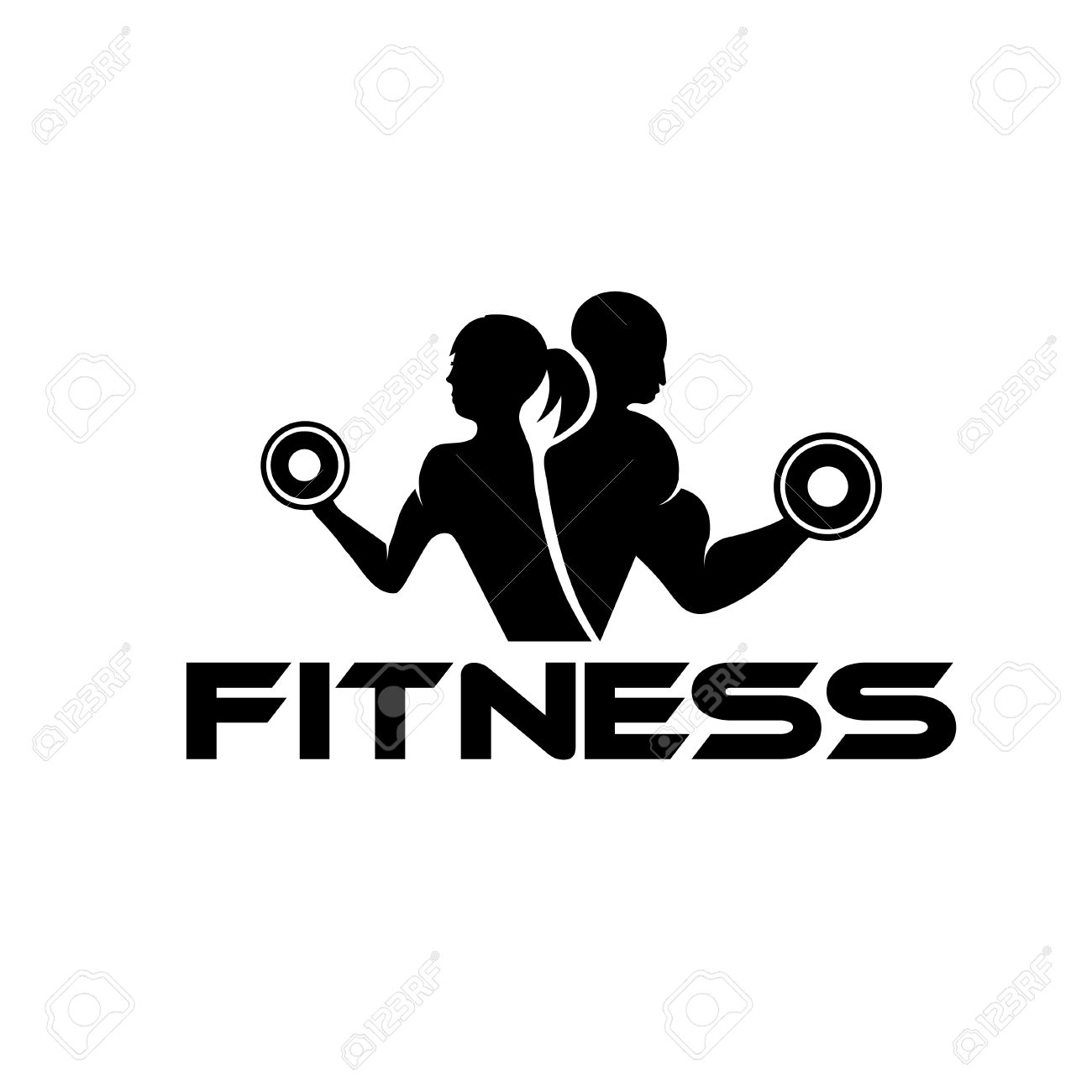 Free black and white fitness clipart clipground