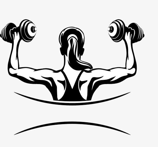 Cartoon Fitness Clipart.
