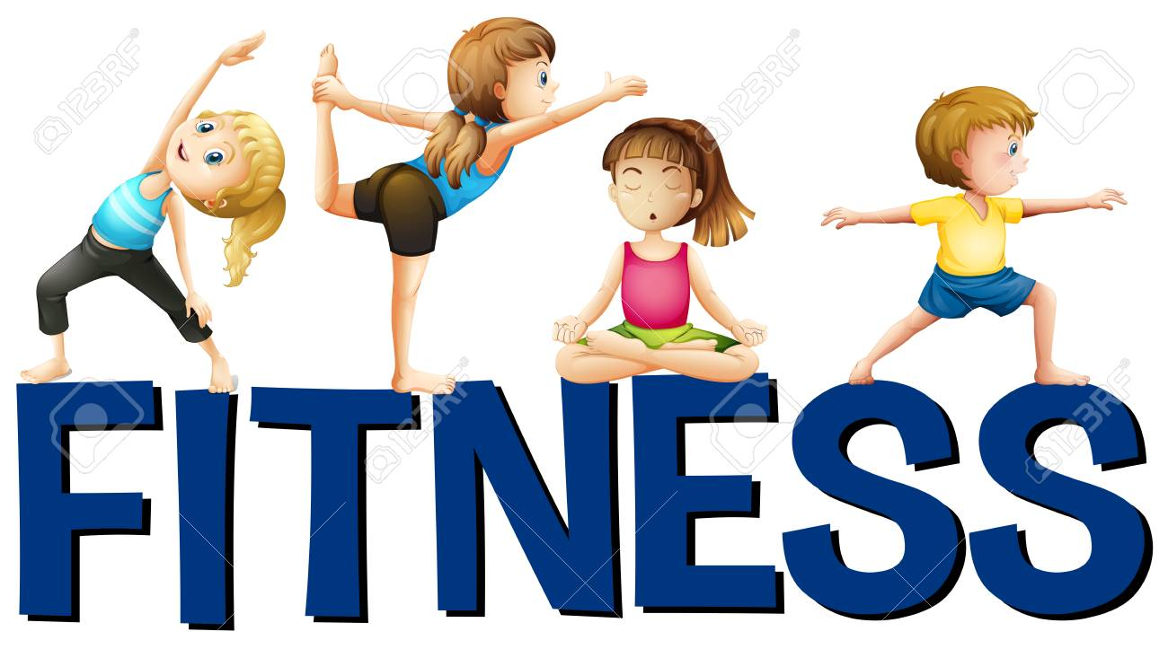 Kids Fitness Clipart.