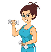 Workout Girl Clipart.