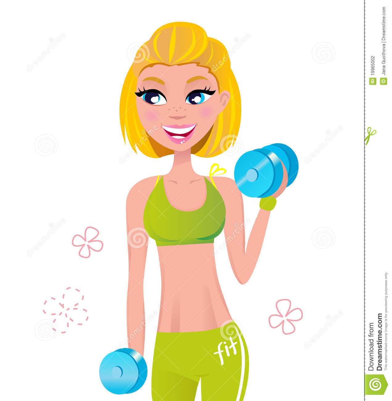Girl Workout Clipart.