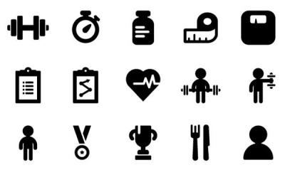 Fitness icons PNG.