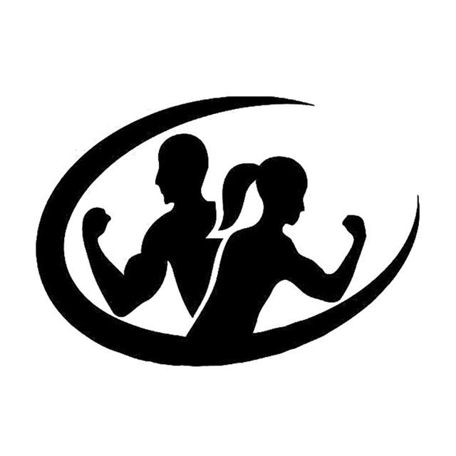 Fitness Silhouette Logo.