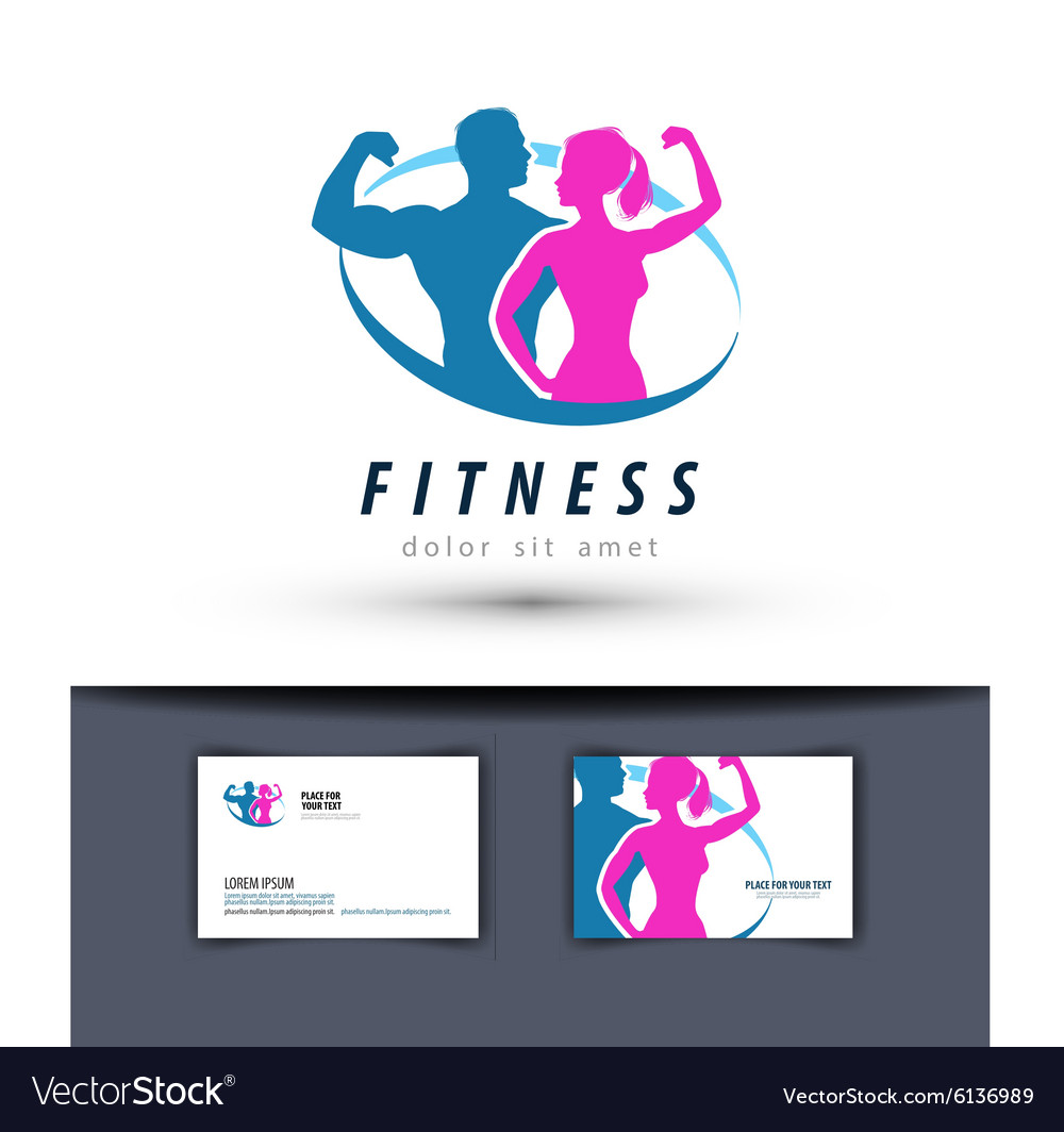 Fitness logo design template gym or sport.