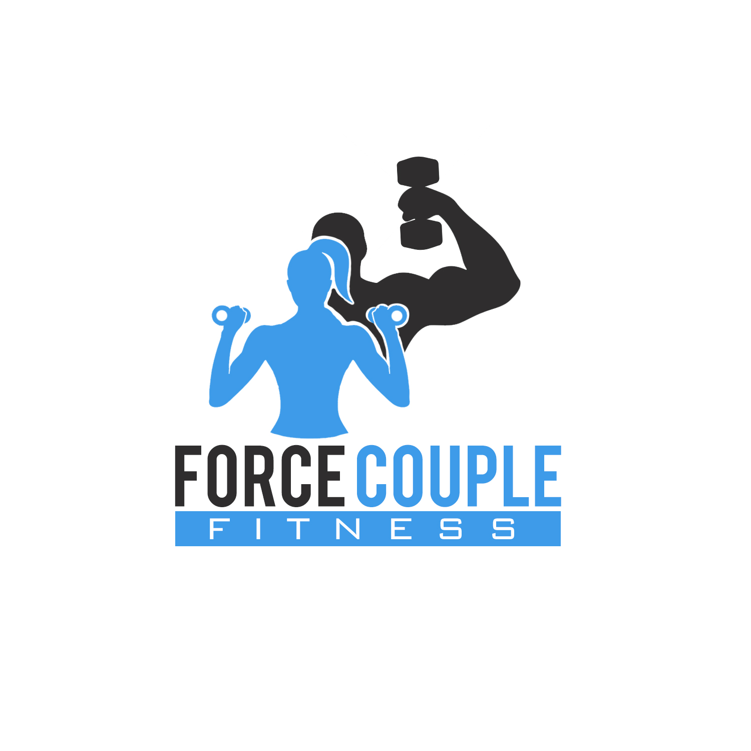 Bold, Modern, Fitness Logo Design for Force Couple Fitness.