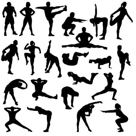 126,994 Exercise Silhouette Stock Vector Illustration And Royalty.