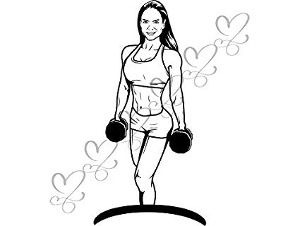 Amazon.com: Yetta Quiller Strong Female Fitness Woman.