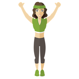 Flat Shaded Fitness Woman clipart, cliparts of Flat Shaded.
