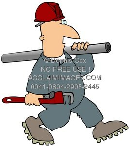 Clipart Illustration: Pipe Fitter.