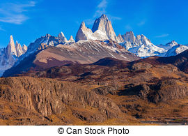 Stock Photography of Fitz Roy mountain, Patagonia.