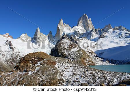 Stock Photos of Beautiful nature landscape with Mt. Fitz Roy as.