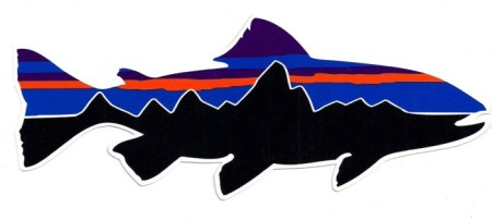 Patagonia 19 Inch Fitz Roy Trout Sticker.