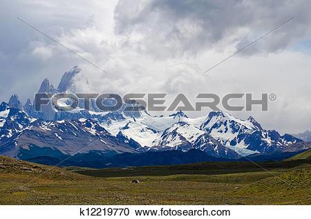 Stock Photography of Mount Fitz Roy, El Chalten, Patagonia.