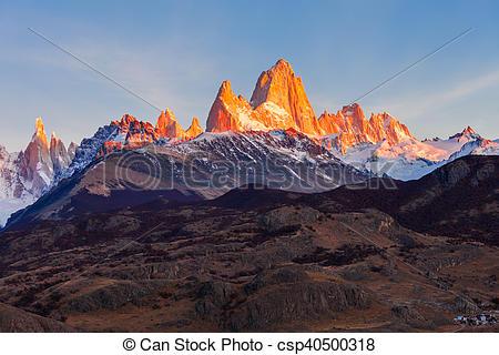 Stock Photography of Fitz Roy mountain, Patagonia.