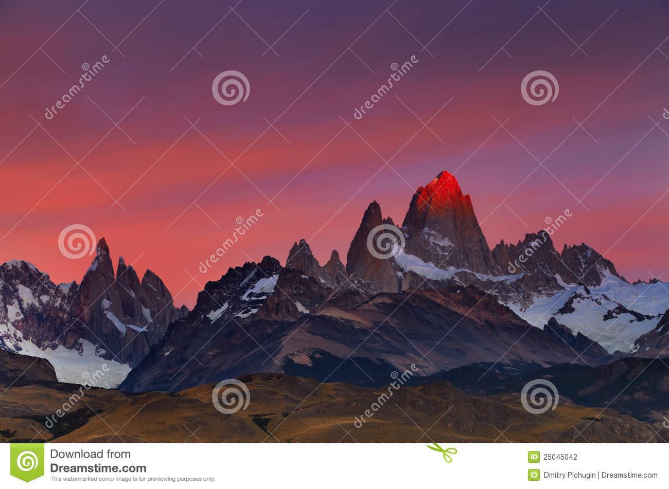 Mount Fitz Roy, Patagonia, Argentina Royalty Free Stock Image.