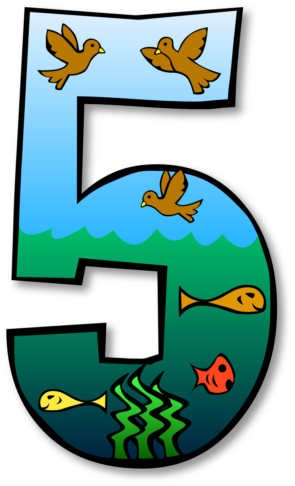 Number Five Clipart.