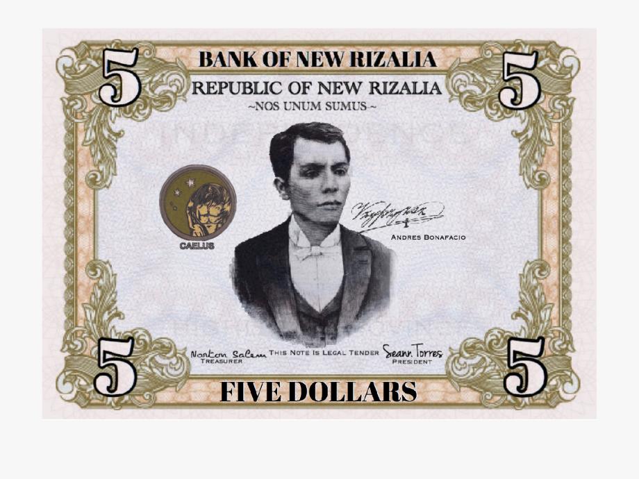 5 Dollar Bill Clipart.