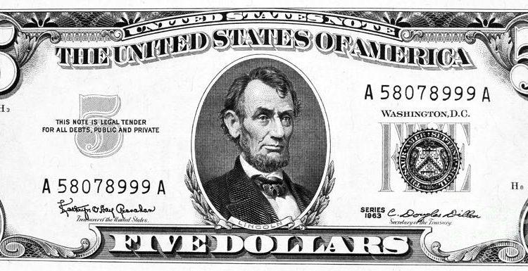 881 Dollar Bill free clipart.