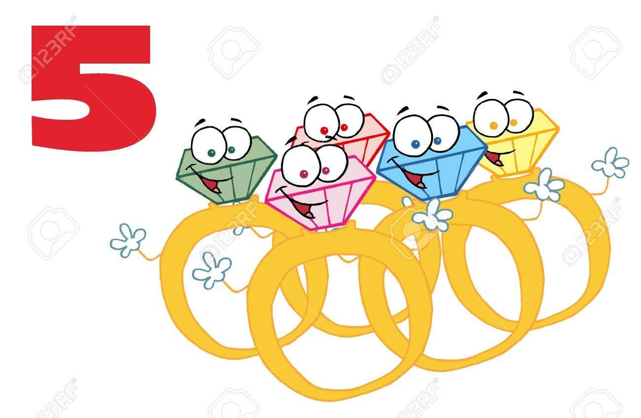 Five golden rings.