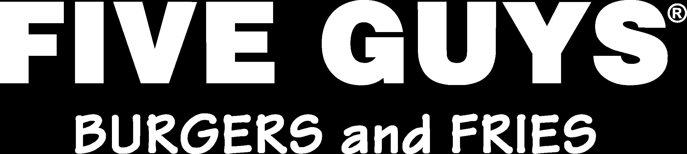 Five Guys Burgers Logo PNG Transparent & SVG Vector.