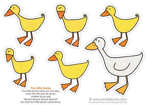 Five Little Ducks Printable Puppets.