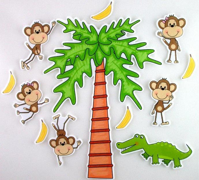 Five Little Monkeys Swinging from a Tree Felt.