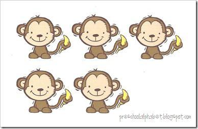 Similiar Five Little Monkeys Cut Outs Keywords.