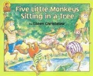 9780440831143: Five Little Monkeys Sitting in a Tree.