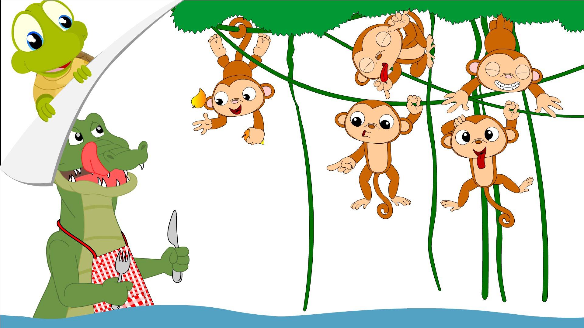 Five little monkeys nursery rhyme.