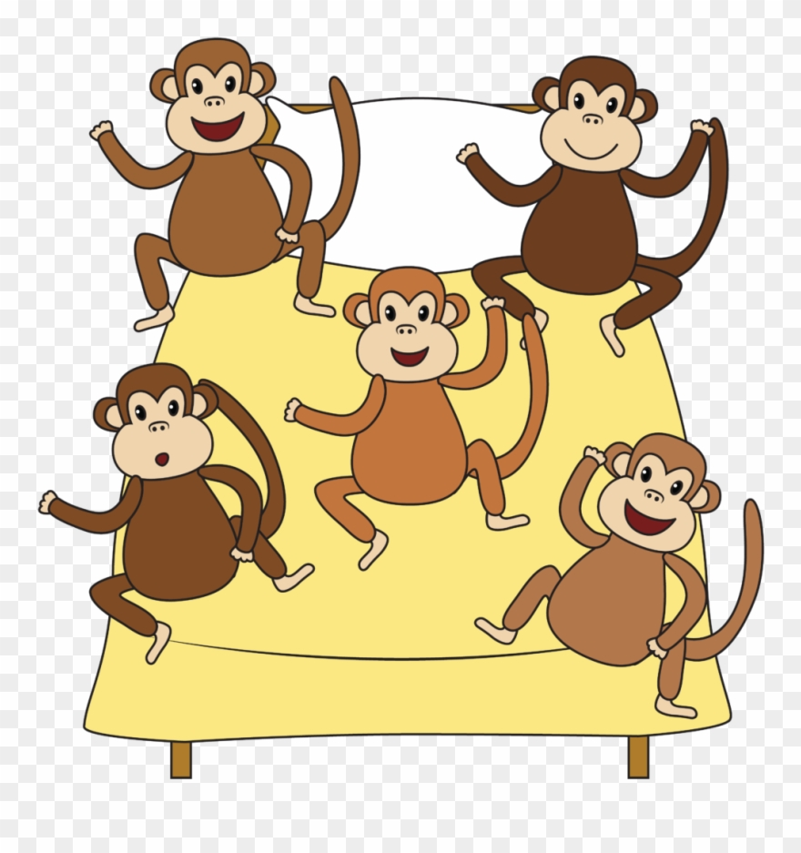 Five Little Monkeys Clipart (#2427444).