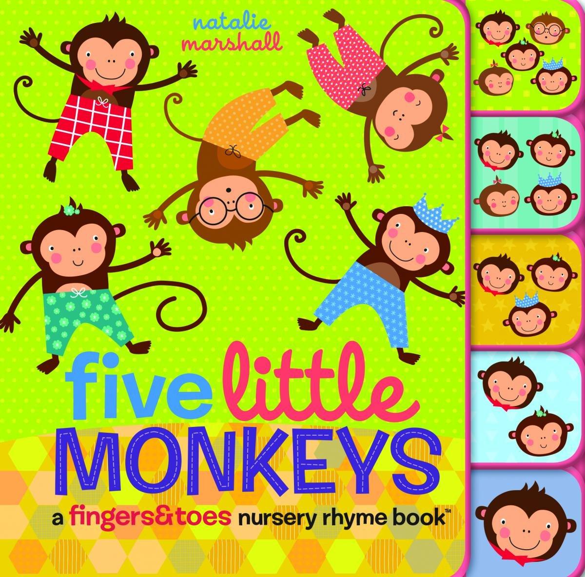 Amazon.com: Five Little Monkeys: A Fingers & Toes Nursery Rhyme Book.