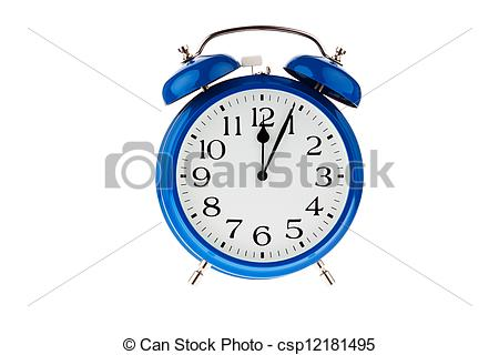Stock Photographs of time for decision. five minutes to midnight.