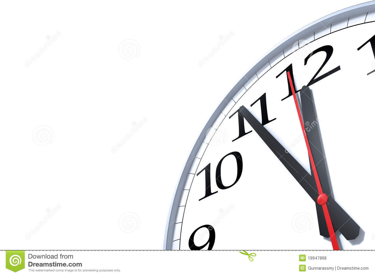 Five Minutes To Midnight Royalty Free Stock Photos.