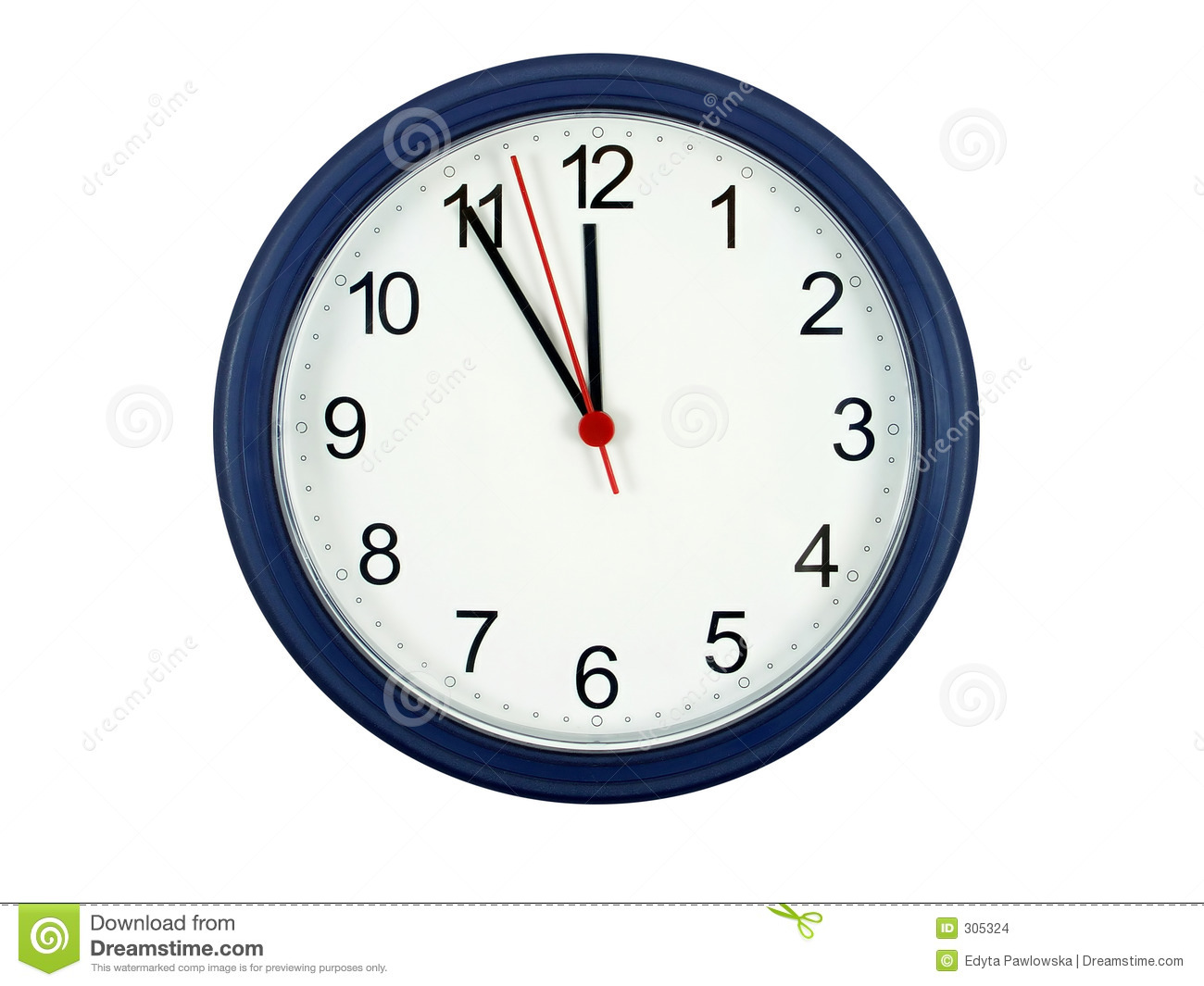 Five Minutes Till Midnight Stock Images.