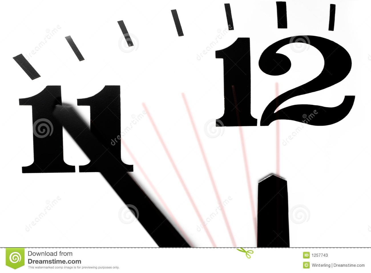 Five Minutes To Midnight Stock Photos.