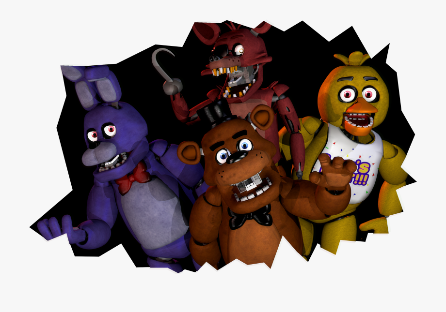 Guidelines Drawing Five Nights At Freddy's.