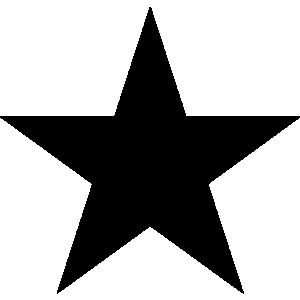 Stars logo clipart five points.