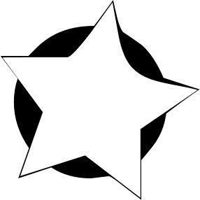 5 Point Star Clipart.