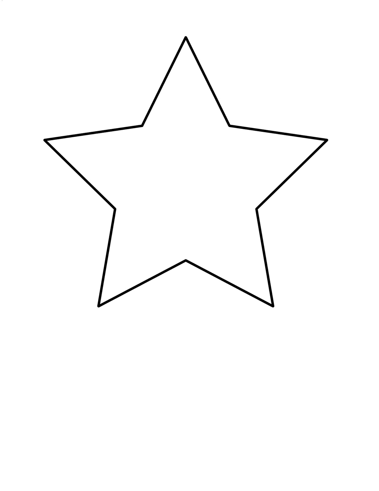 5 Point Star Clipart.