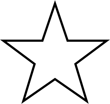 5 point star clipart images.