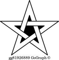5 Point Star Clip Art.