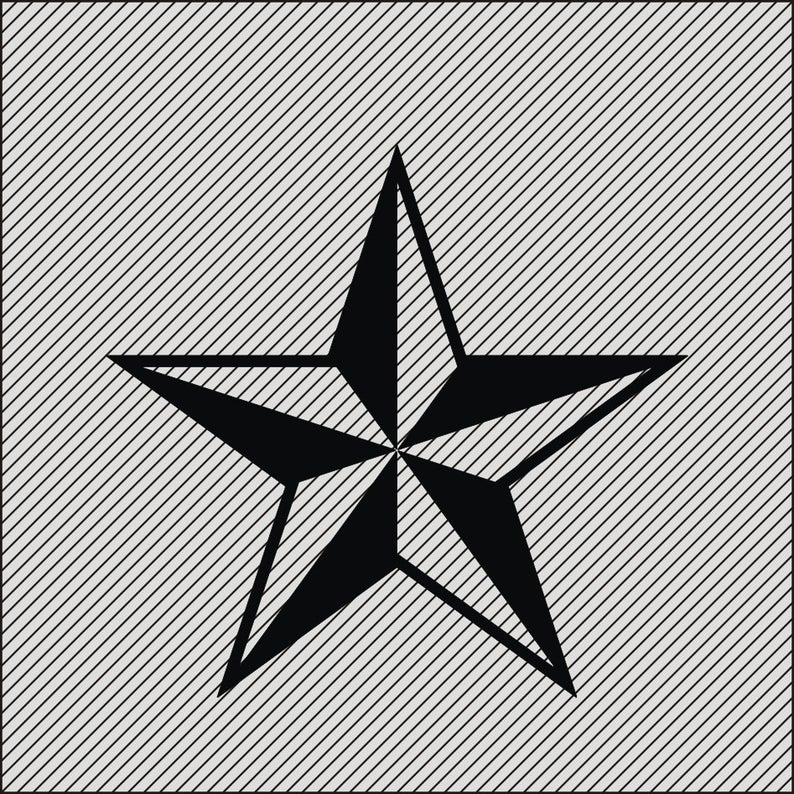 Star Clipart , Five Pointed Star art, SVG file, Star SVG, Star Drawing,  Star Decor, Laser Cutting and Engraving file, Cricut file, Printable.