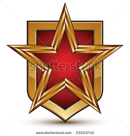 Socialism Emblem Star Wreath Wheat A Stock Vector 91747304.