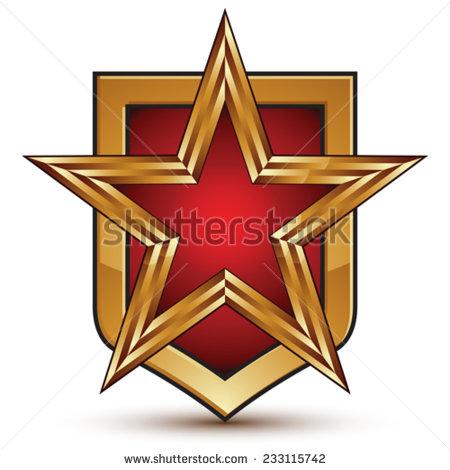 Socialism Emblem Star Wreath Wheat A Stock Vector 91747304.