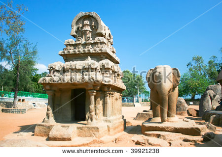 Five Rathas Temple Is A Fine Example Of Pallava Architeture.